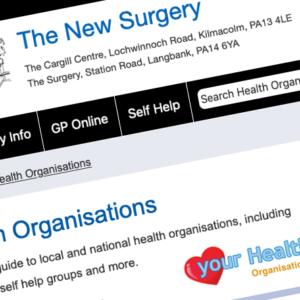 The New Surgery website screenshot