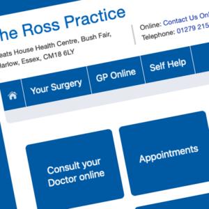 The Ross Practice website screenshot
